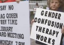 Anti-LGBTQ protesters swarmed a library to protest a drag queen story hour