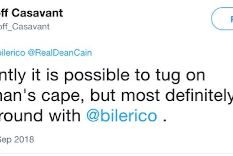 Tweet from Geoff Casavant: