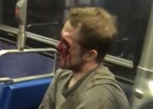 Watch this would-be gay basher get his butt kicked when he messes with the wrong guy