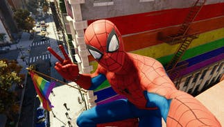 Twitter is blowing up with these Spider-Man pride flag screenshots