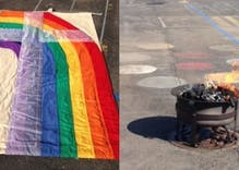 Church removes priest who 'exorcised' a rainbow flag out of 'concern for his welfare'