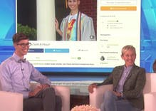 Ellen talked to the gay student who crowd-funded college after his parents rejected him