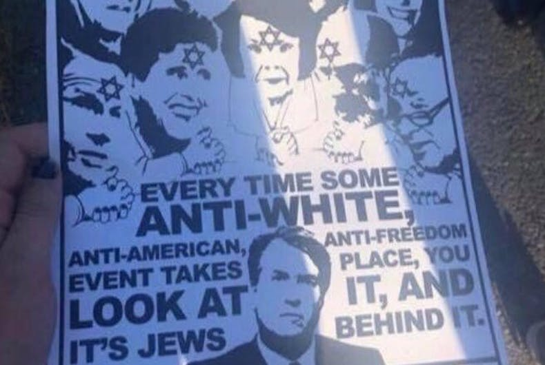 An anti-semitic poster featuring now-Supreme Court Justice Brett Kavanaugh is being distributed on college campuses.