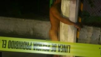 Someone is tying naked men to lamp poles & the police have no idea why