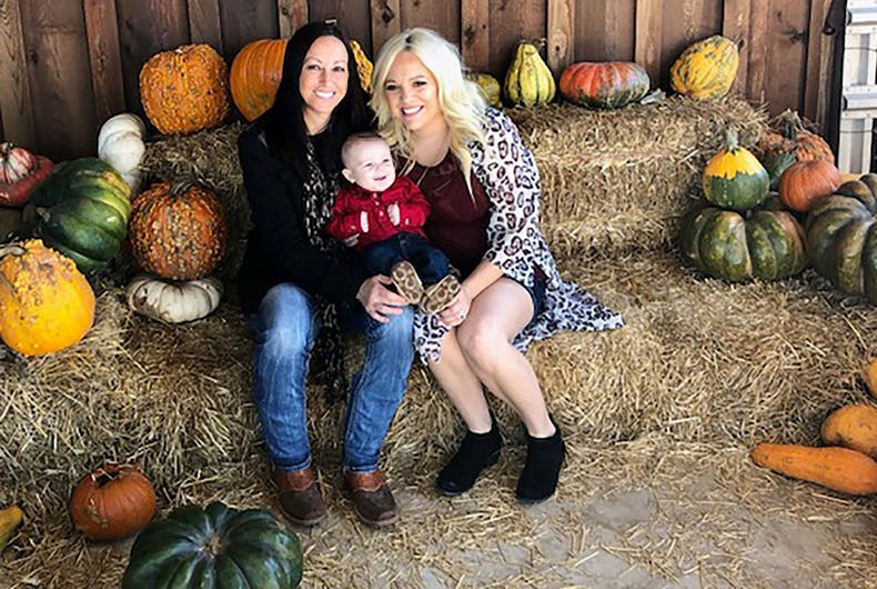 Bliss and Ashleigh Coulter with their young son