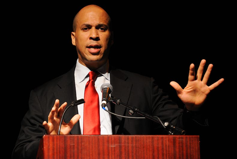Then-Newark mayor Cory Booker spoke at the Russ Berrie Awards for Making A Difference Celebration on May 3, 2011 at Ramapo College. Booker now serves as a US Senator representing New Jersey.