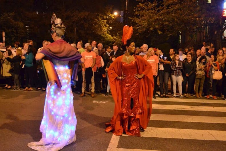 Queens parade during the 2017 High Heel Race in DC