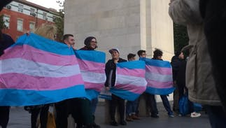 Protest erupts in response to Trump's attempt to erase trans people from civil rights laws