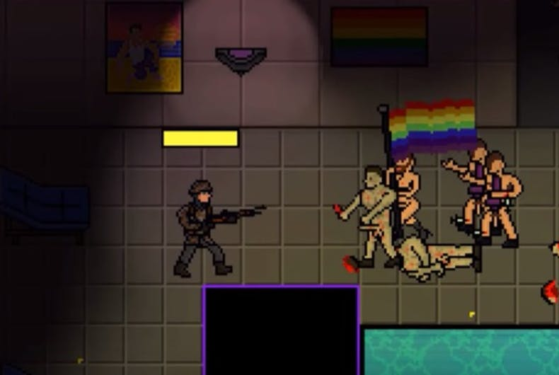 In Angry Goy 2, players have to shoot LGBTQ people in a Pulse-like nightclub to