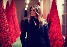 The White House Christmas decorations are the laughingstock of the internet
