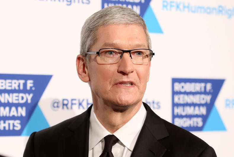 Apple CEO, Tim Cook, attends the 2015 Ripple Of Hope Awards at the Hilton Hotel on December 8, 2015, in New York.
