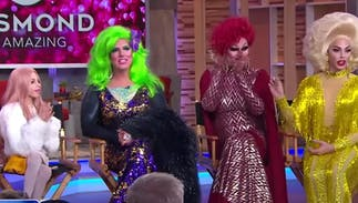 Watch some of America's most famous drag queens surprise a kid on Good Morning America