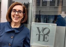 Kate Brown, nation's first bisexual governor, wins re-election in Oregon
