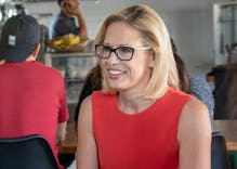 Kyrsten Sinema taking months to vote to convict Trump is head-scratching