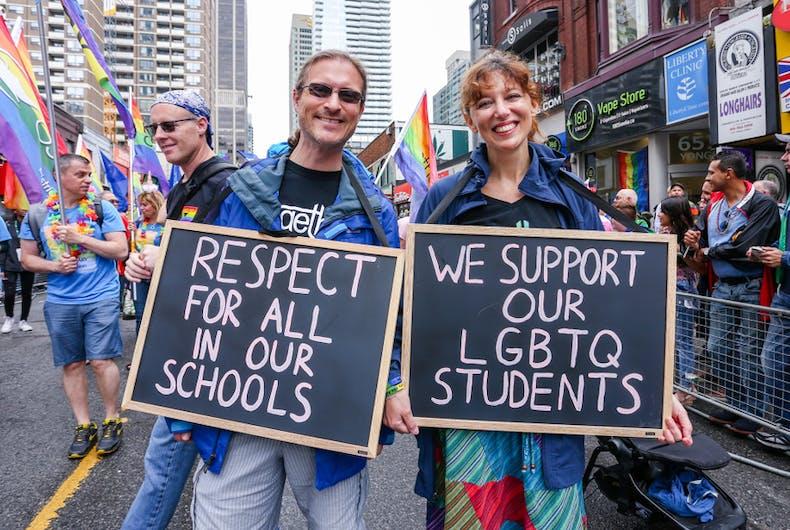 LGBTQ inclusion in school curriculum