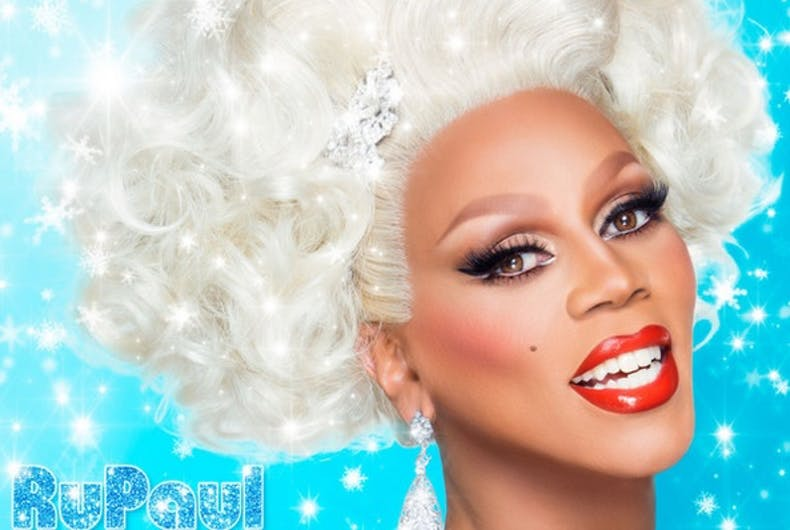 Album art from RuPaul's Christmas album