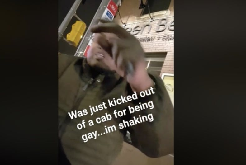 Travis Paul recorded what he says is a taxi driver kicking him out of the cab because he is gay.