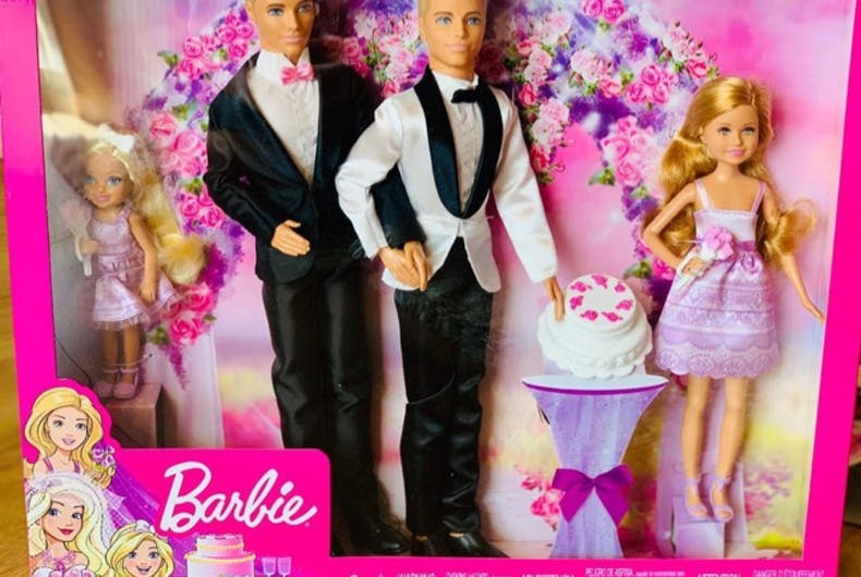 When they couldn't find a same-sex wedding Barbie set, two gay men decided to make their own.