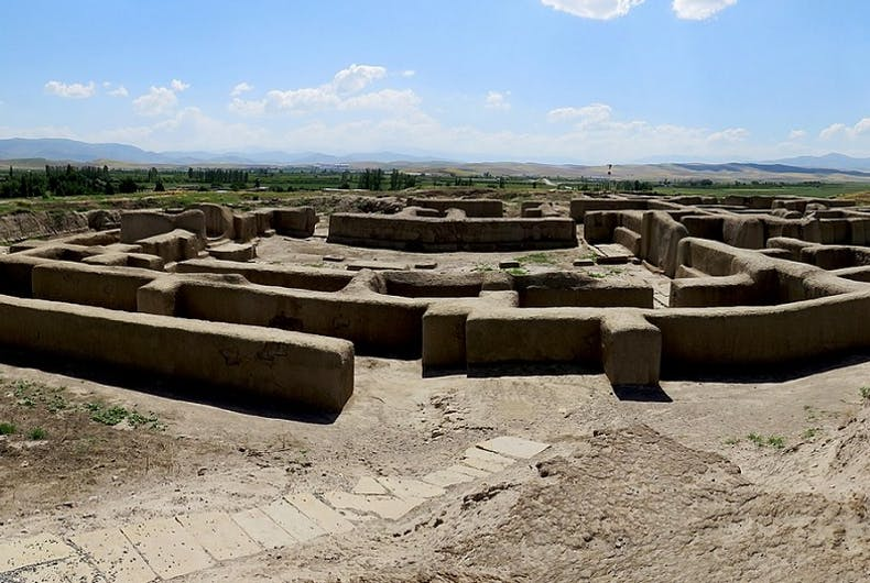 Hasanlu site, on a sunny day