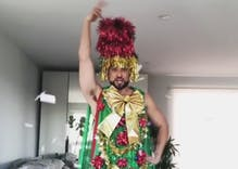Watch a drag performer transform into a fabulous tree