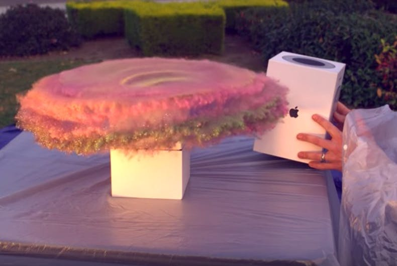 Mark Rober set off a massive glitter bomb to foil would-be package thieves.