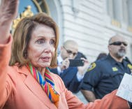 Nancy Pelosi is throwing shade at Paul Ryan as he walks out the door