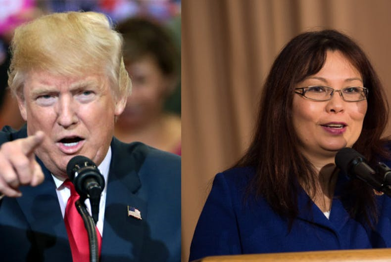 Donald Trump and Senator Tammy Duckworth