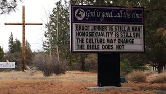 A pastor posted an anti-LGBTQ church sign so his congregation kicked him to the curb