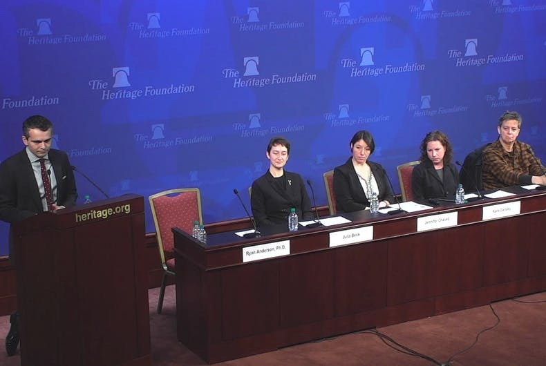 A panel at the Heritage Foundation