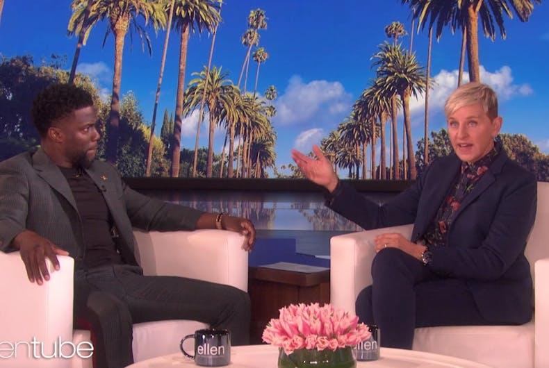 Kevin Hart and Ellen