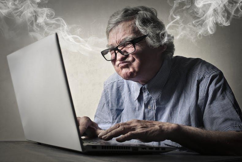 Older conservative Facebook users