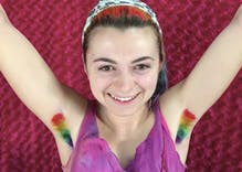 Here's why some women are dyeing their armpit hair in rainbow colors like the Pride flag