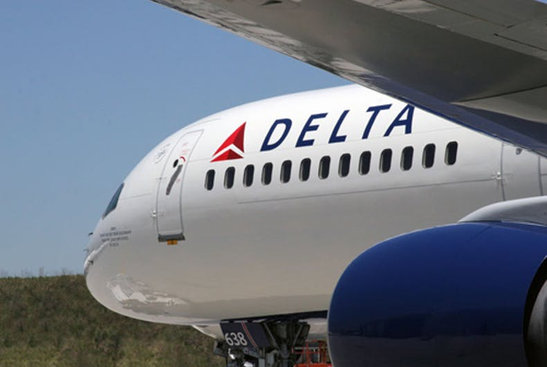 A Delta airplane