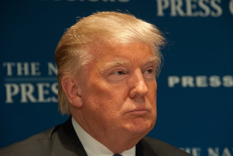 MAY 27, 2014 - Real estate mogul Donald Trump speaks to a luncheon at the National Press Club.