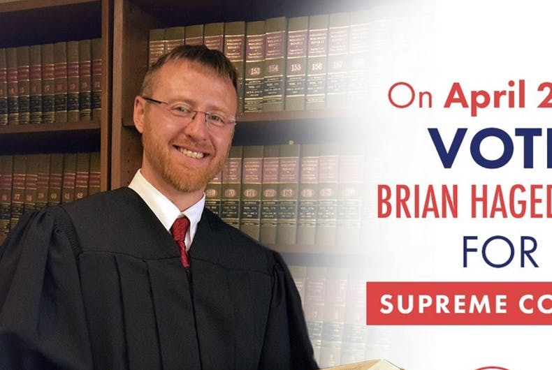 A campaign image for Brian Hagedorn