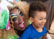 Over 350 kids and parents showed up bigots protesting a Drag Queen Story Hour in Indiana