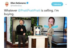 Did Ellen forgive Chris Pratt for attending an anti-LGBTQ church?