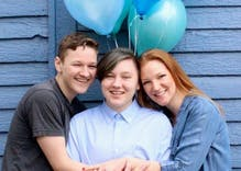 This awesome mom celebrated her son's transition with a gender reveal photoshoot