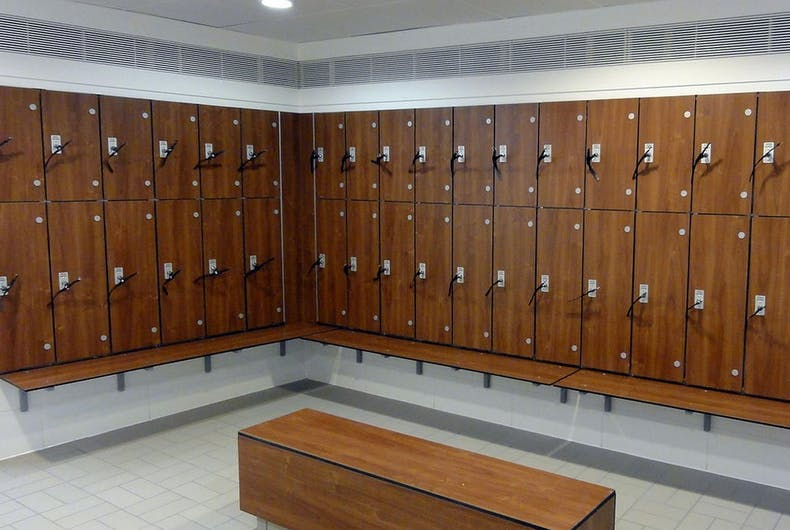 A locker room