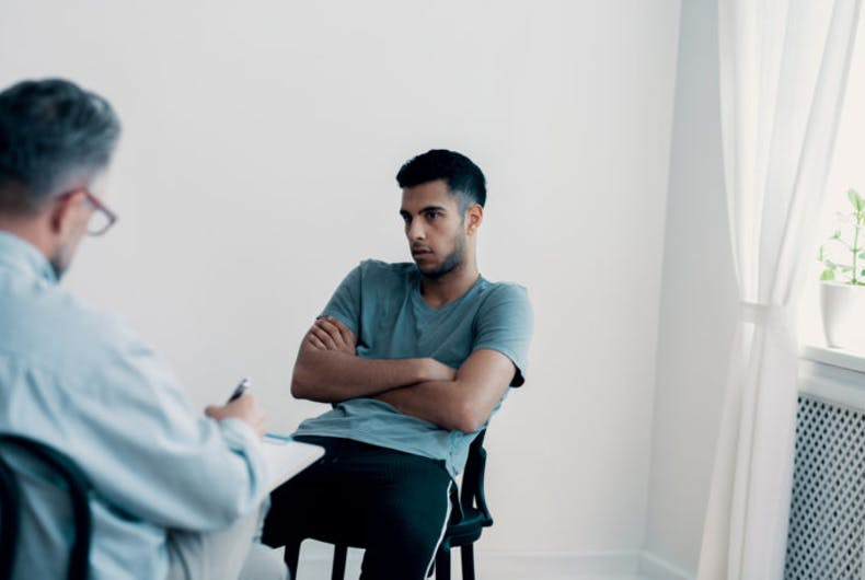 A man in therapy