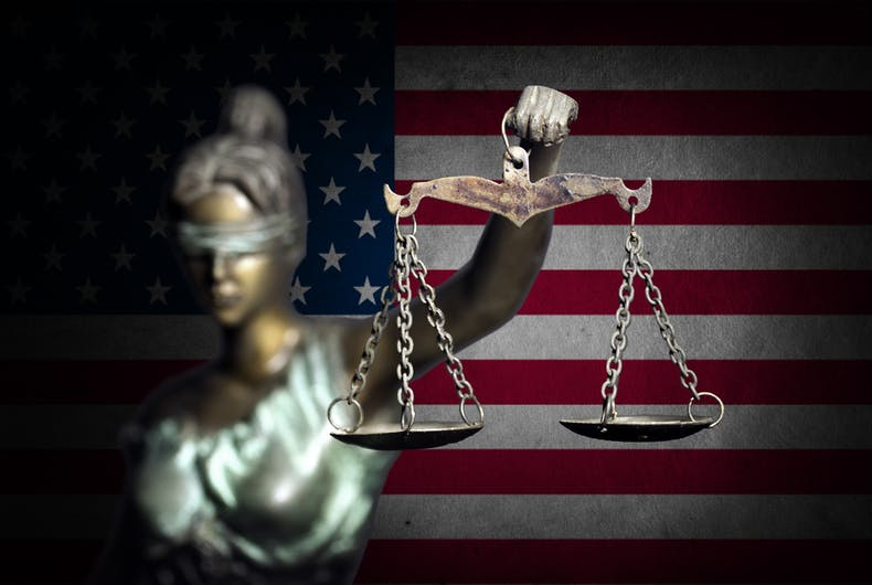 U.S. Supreme Court, Lady Justice, blindfolded with scales