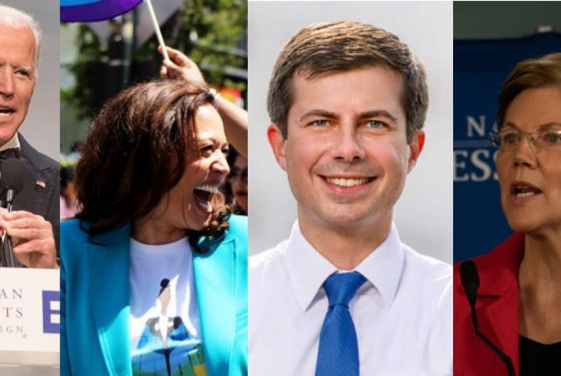 Joe Biden, Kamala Harris, Pete Buttigieg, Elizabeth Warren
