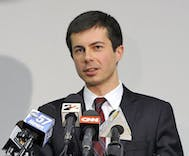 Pete Buttigieg called Mike Pence 'The cheerleader of the porn star presidency'