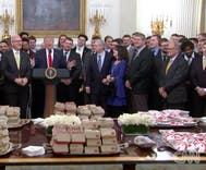 President Trump served Chick-fil-A to guests in the White House