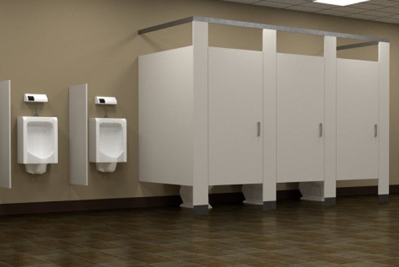 A public bathroom