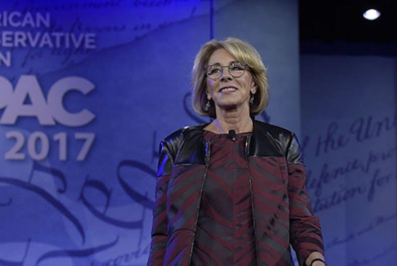 Betsy Devos at CPAC 2017