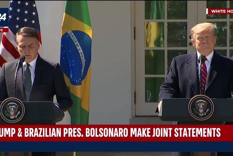 Jair Bolsonaro and Donald Trump