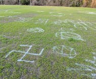 Vandal paints homophobic & anti-Semitic graffiti on queer-inclusive rugby team's field