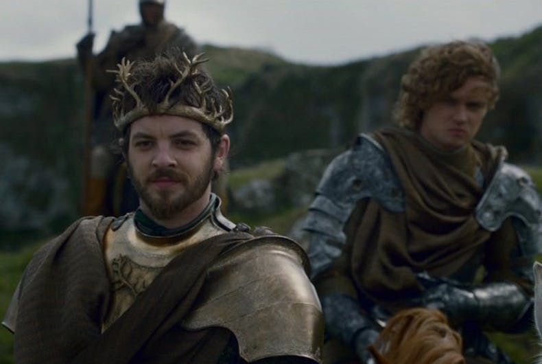 Renly Baratheon and Loras Tyrell were lovers on the hit show