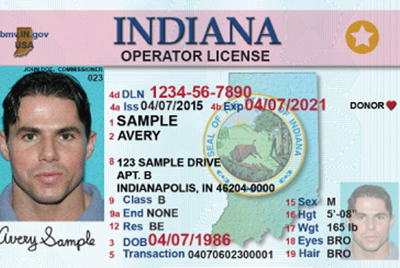Licenses For Lgbtq Neutral amp; Offers Option Drivers Ids Indiana A Gender State Now Nation
